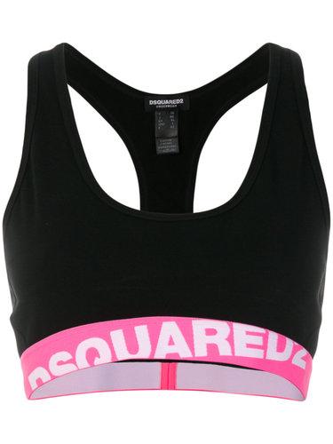 укороченный топ с логотипом Dsquared2 Underwear