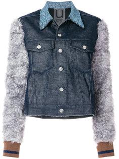 джинсовая куртка с контрастными рукавами Aviù