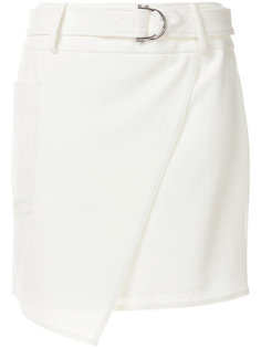 юбка асимметричного кроя с поясом DKNY