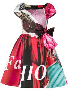 расклешенное платье с бантом Moschino