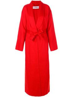длинное пальто с поясом  Givenchy