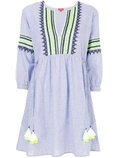 платье в полоску с вышивкой Sunuva