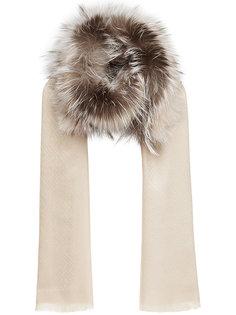 шарф с меховой панелью  Fendi