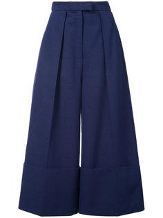 укороченные широкие брюки Delpozo