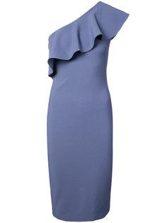 облегающее платье на одно плечо с оборками Likely