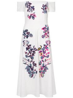 платье с цветочной вышивкой Lottie  Tanya Taylor