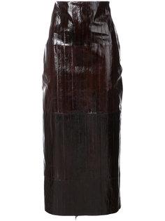 юбка прямого кроя Rosetta Getty