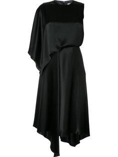платье на одно плечо с оборками Le Ciel Bleu