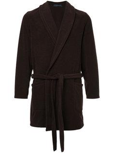 пальто с поясом  Harris Wharf London