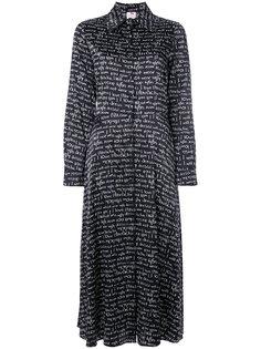 платье-рубашка с типографским принтом Ultràchic