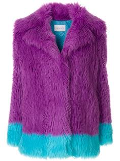 двухцветная куртка из искусственного меха Alberta Ferretti