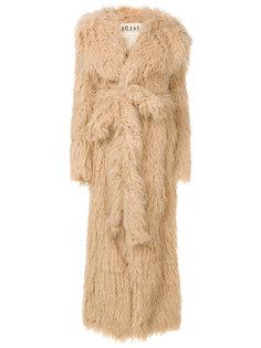 пальто из искусственного меха с поясом  A.W.A.K.E. Awake