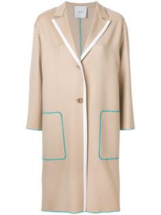 пальто с контрастной окантовкой Agnona