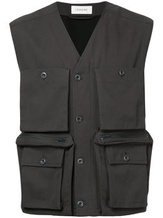 куртка без рукавов с крупными карманами Lemaire