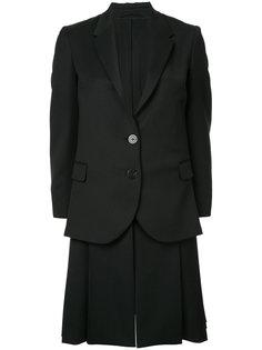 многослойное однобортное пальто Neil Barrett