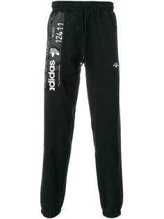 спортивные брюки с эффектом вывернутых наизнанку Adidas Originals By Alexander Wang