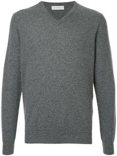 классический пуловер с V-образным вырезом Gieves & Hawkes