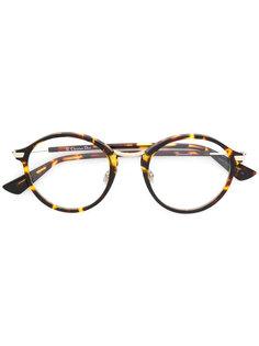 очки в круглой оправе с эффектом черепашьего панциря Dior Eyewear