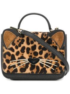 мини сумка с леопардовым узором Kate Spade