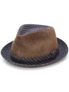 шляпа-трилби с замшевыми панелями Al Duca D'Aosta 1902