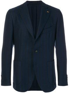 полосатый пиджак с вышивкой Gabriele Pasini