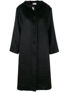 длинное пальто с отделкой  Lanvin