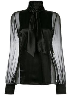 блузка с полупрозрачной вставкой  Lanvin