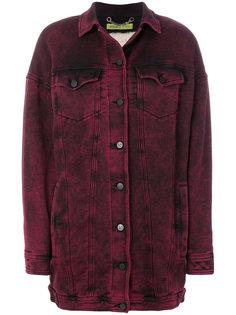 объемная джинсовая куртка Versace Jeans