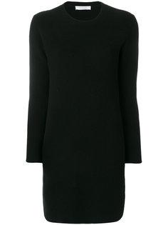 приталенное платье в рубчик Cruciani