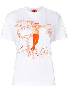 футболка с принтом рисунка Emilio Pucci