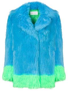 пальто с контрастной отделкой Alberta Ferretti