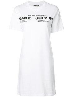 платье-футболка Poison Youth tour date McQ Alexander McQueen