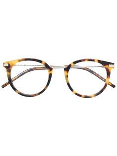 очки с эффектом черепашьего панциря Fendi Eyewear