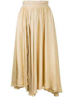 асимметричная плиссированная юбка Forte Forte