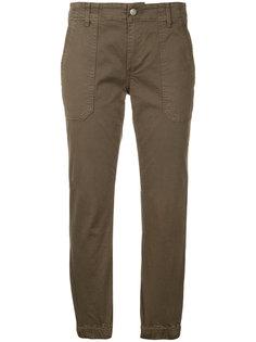 укороченные зауженные брюки Vince