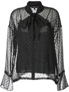 блузка с бантом и блестками Theory