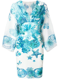 платье с принтом кораллового рифа Roberto Cavalli