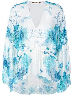 блузка с принтом кораллового рифа Roberto Cavalli