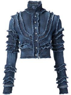 джинсовая куртка с бахромой Dsquared2