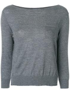свитер с вырезом-лодочкой Prada