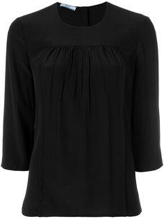 блузка со сборками Prada