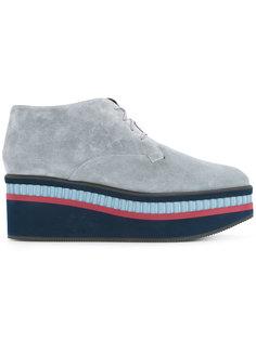 туфли на платформе со шнуровкой Robert Clergerie