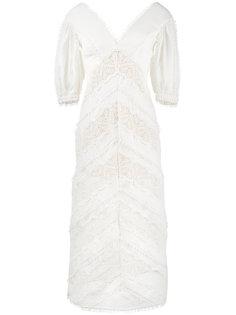 кружевное платье миди Painted Heart Zimmermann
