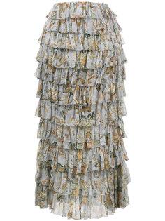 многоярусная юбка-миди Zimmermann