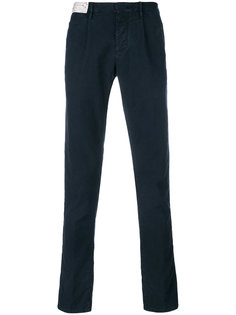 приталенные брюки строгого кроя Incotex