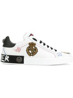 кроссовки с аппликацией Dolce & Gabbana