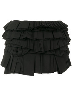 юбка мини с плиссированными панелями Givenchy