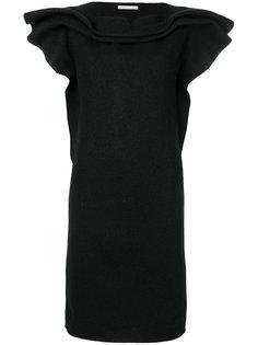 платье с короткими рукавами и оборками  Stefano Mortari