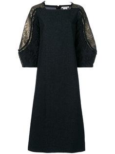 платье с отделкой на рукавах  Stefano Mortari