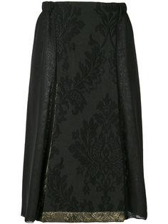 юбка с цветочным принтом Stefano Mortari